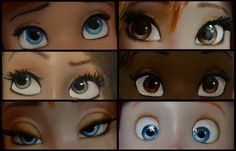 whoever see this: consider yourself tagged. x3 find six of your fav dolls and upload their eyes :D   i decided to take six dolls that i repainted, so can you guess who is on the pics? x3