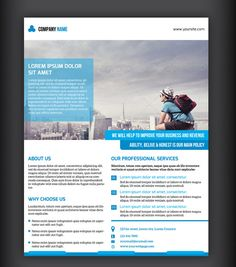 Corporate Flyer template-V21 by Template Shop on @creativemarket