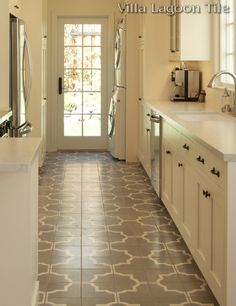 "In-Stock ""Piazza Grande"" Cement Tile -- Villa Lagoon Tile.  Drafting Cafe Design."