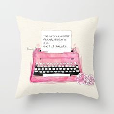 This is not a love letter. Throw Pillow