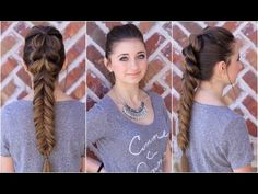 Pull-Through Fishtail tutorial..one of my favs! #hairstyles #hairstyle #pullthrubraid #fishtail #longhair #braids #cutegirlshairstyles #CGHpullthrufishtail
