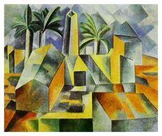 'Factory, Horta de Ebbo', 1909 (oil on canvas)