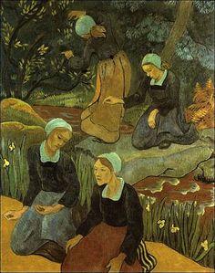 La scène de ce tableau se passe au bord de la rivière du Pont ruz.