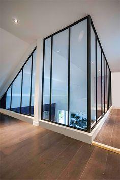 Verri re neves duo loft ii noire sur mesure en aluminium for Cloison facon verriere