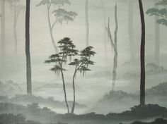 misty landscape paintings - Google Search