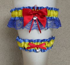 Snow White Garter Set Fairy Tale Fairytale Princess Royal Blue