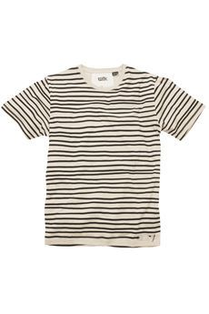 hand painted stripes on t-shirts.