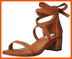 Steve Madden Women's Rizzaa Dress Sandal, Cognac Suede, 5.5 M US - All about women (*Amazon Partner-Link)