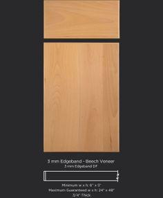 Contemporary Slab Edgebanded Veneer Cabinet Door In Select Beech By Taylorcraft Company Doors