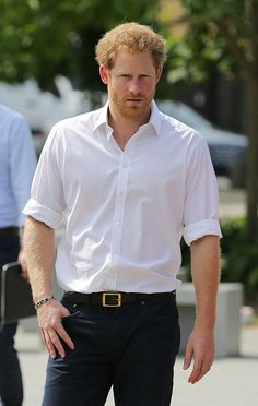 Britain's Prince Harry arrives for a visit to the Double Jab Boxing Club in South East London on June 6, 2016 to support Sport for Social Development initiatives.