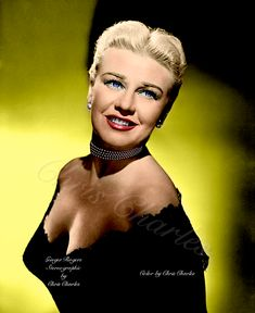 Ginger Rogers, Hollywood Icons, Actors & Actresses, Hot, Color, Fashion, Moda, Fashion Styles, Colour