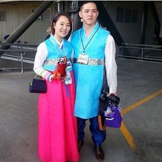 Astonishing couple delegates from South Korea, with matching Hanbok, a traditional Korean dress for special occasions & celebrations. Seattle, WA International Convention. ♥•.¸¸.•♥   JW.org has the Bible & bible based study aids to read, watch, listen & download in 300+ (sign included) languages. They also offer free in home bible studies.  All at no charge.