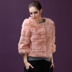 Find everything but the ordinary Black Women Fashion, Fur Fashion, Womens Fashion, Fur Jacket, Fur Coat, Fur Clothing, Rabbit Fur, The Ordinary, Long Sleeve Tops
