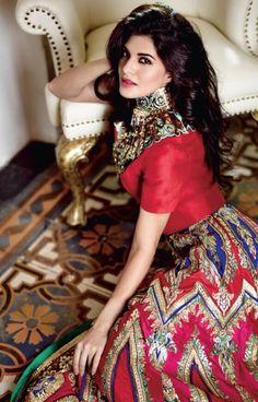 Jacqueline Fernandez as indian bride