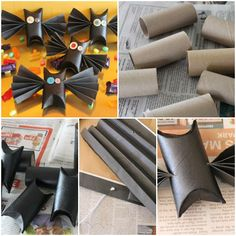 How to make bats with Toilet paper rolls Tutorial DIY tutorial instructions, How to, how to do, diy instructions, crafts, do it yourself, diy website, art project ideas