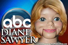 Daine Sawyer - Obama's Adorable Ventriloquist Dummy - Shame on her! - She and her cronies not stating the facts are a threat to this country - Stop watching abc news! Maybe that will change the way they selectively report it! Ventriloquist Dummy, Diane Sawyer, Matt Lauer, Michael Moore, Liberal Logic, Media Bias, Culture War, Mainstream Media, Stupid People