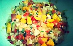 Traditional Bahamian conch salad