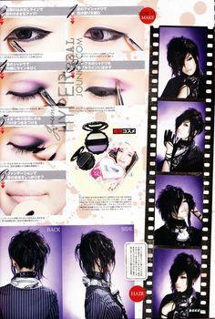 visual kei makeup tutorial