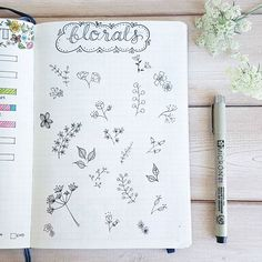 A work in progress. I used a floral theme for my August set-up this month, and wanted a place to try out some flowers and leaves to draw inspiration from later. My sketches were inspired by many I've seen here on IG, including @kaosyoga_lettering, @mimitsudoodles, @surelysimpleblog, and @therevisionguide. PS - the real-life flowers in this photo are carrot flower (from our garden)! Carrot is related to Queen Anne's Lace. Who knew?! . . . . #bulletjournal #bulletjournaling #bujo #bulletjou...
