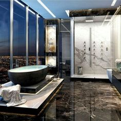 Luxury bathroom create a simplistic as well as tidy feeling. In order to develop your modern luxury bathroom ensure to make use of geometric shapes and patterns, clean lines, marginal shades and mid-century furnishings. Glamorous Bathroom, Modern Bathroom, Master Bathroom, Minimalist Bathroom, Simple Bathroom, White Bathroom, Bathroom Marble, Eclectic Bathroom, Master Baths