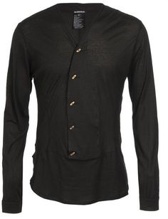 b875847c5f Fine Jersey Top with Wooden Buttons - Lyst Štýl Chalanov