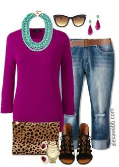 Plus Size Fall Sweater Casual Outfit - Plus Size Fashion for Women - alexawebb.com #alexawebb