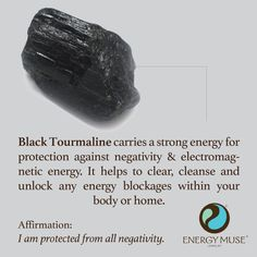 Black Tourmaline is one of the most powerful crystals for protection and…