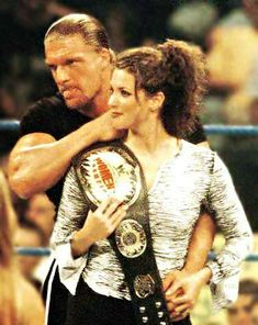 Triple H and Stephanie McMahon Wrestling Superstars, Wrestling Divas, Women's Wrestling, Wwe Stephanie Mcmahon, Mcmahon Family, Paul Michael, Attitude Era, Wwe Raw And Smackdown, Wwe Couples