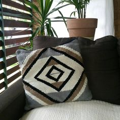 Check out this item in my Etsy shop https://www.etsy.com/au/listing/272083174/handwoven-cushion-no2