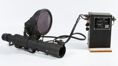 Lot 313: Korean War Era Infrared Sniper Scope; c.1951 US Army Corp of Engineers 20,000 volt infrared sniperscope with power pack made by Oak Mfg. Co. of Chicago with stock #17-7760-500-200 and serial #8412