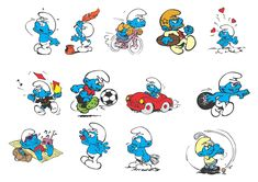 Smurfs Characters (eps files)