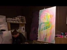 Art tips on how to paint on a big canvas by Mette Lindberg and Søstrene Grene - YouTube