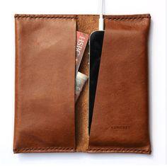 iPhone SE 6 6 Plus Bifold Wallet Premium por KonceptLeather