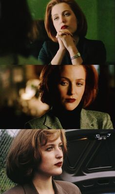 A concept: Scully wearing dark lipstick