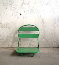 Vintage Metal Folding Seat with Swivel by TheArtifactoryStudio, $65.00