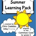 Printable Common Core Summer Packet for Third Grade:     Need a quick, easy, printable, Common Core- aligned summer packet for the end of the year?  ...