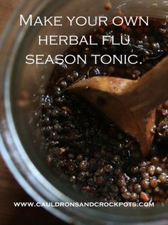 DIY   Herbal Flu Season Tonic   Stay clear of the fear of the flu!