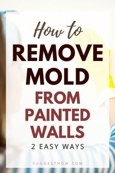 Mold on the painted wall threatens the health of your family living in the home and ruins the appearance of the wall. To restore the beauty of the wall and create a healthy home, knowing how to remove mold from painted walls is essential. Removing the mold can be an easy task if you follow some steps correctly. #DIY #cleaning #homehacks#diytips Mattress Cleaning, Cleaning Walls, Bathroom Cleaning, Deep Cleaning Tips, Household Cleaning Tips, Diy Cleaning Products, Remove Mold, Concrete Block Walls, Cleaning Appliances