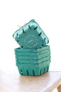 50  1/2 Pint Sized Berry Boxes made from Recycled by leboxboutique, $24.79