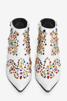Jeffrey Campbell Arliss Jeweled Ankle Boot - Boots + Booties   Jeffrey Campbell