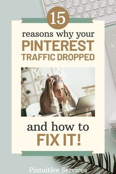 Why did my Pinterest traffic drop and how do I fix it? Is your poor Pinterest traffic causing you to pull your hair out? Here are 15 reasons and tips for beginners as to why your Pinterest traffic may have dropped and how to grow and increase it instead by changing up your pinning strategy. My Pinterest, Make Blog, Pinterest For Business, Pinterest Marketing, Affiliate Marketing, Online Business, Digital Marketing, Drop, Tips