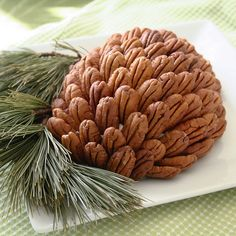 Cream Cheese Cranberry Pine Cone