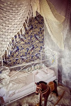 """Vintage Crochet Pavilion """"Boho Bed"""" 2SQ via TIPIYEAH. Click on the image to see more!"""