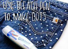 #DIY polka dot #Carhartt jeans