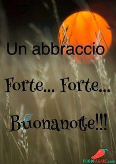 Immagini per Buonanotte amici Whatsapp - Pocopagare.com Good Day, Good Morning, Good Night Gif, Italian Quotes, Nighty Night, Wish, Facebook, Slaap Lekker, Short Messages