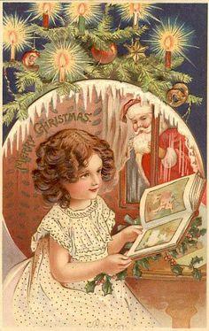 Papai Noel deixou livro de Natal