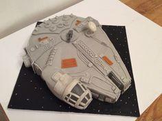 Millennium Falcon cake