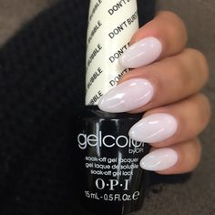 """""""""""Don't Burst My Bubble"""" from #OPI is my go to right now it matches everything I wear. """"DBMB"""" has more of a light purple under tone, Not to be confused…"""""""