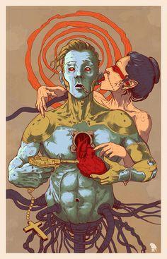 """""""Artificial Love"""" part of """"Fuck Me Gently"""" series by Grzesiek Wróblewski, via Behance"""