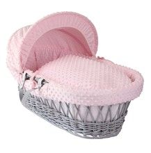 The Clair de Lune Dimple Grey Wicker Moses Basket, the perfect first bed for your little one! Made in the UK using super soft dot Dimple fabrics that are super soft and cosy to wrap your baby up in. Comes complete with adjustable hood, padded liner and coverlet. What's better is that it's currently on sale until 15th January with almost 50% off! Get yours here: